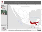 Mapa ilustrativo de Leptopogon amaurocephalus (mosquero gorra parda) residencia permanente. Distribución potencial.