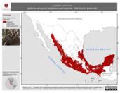 Mapa ilustrativo de Leptotila verreauxi (paloma arroyera) residencia permanente. Distribución potencial.