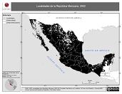 Mapa ilustrativo de Localidades de la República Mexicana, 2000