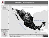 Mapa ilustrativo de Localidades de la República Mexicana, 1995