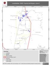 Mapa ilustrativo de Localidades, 2005. Cuenca de Burgos, zona II