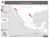 Mapa ilustrativo de Lontra canadensis (Nutria). Distribución potencial.