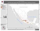 Mapa ilustrativo de Loxia curvirostra (picotuerto rojo) usando sitios con y sin clima extremo. Distribución Potencial