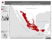 Mapa ilustrativo de Loxia curvirostra (picotuerto rojo) residencia permanente. Distribución potencial.