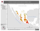Mapa ilustrativo de Predicción del estado de pobreza para las localidades rurales 1