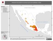 Mapa ilustrativo de Predicción del estado de pobreza para las localidades rurales