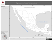 Mapa ilustrativo de Mapa base a nivel estatal. Formato vectorial