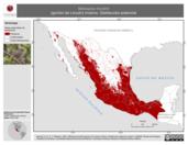 Mapa ilustrativo de Melospiza lincolnii (gorrión de Lincoln) invierno. Distribución potencial.
