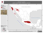 Mapa ilustrativo de Melospiza melodia (gorrión cantor) verano. Distribución potencial.