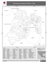 Mapa ilustrativo de Municipios del estado de México, 1995