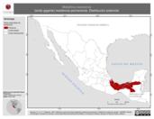 Mapa ilustrativo de Molothrus oryzivorus (tordo gigante) residencia permanente. Distribución potencial.
