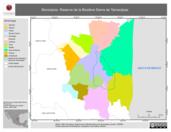 Mapa ilustrativo de Municipios. Reserva de la Biosfera Sierra de Tamaulipas.