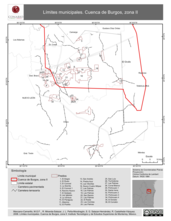 Mapa ilustrativo de Límites municipales. Cuenca de Burgos, zona II