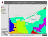 Mapa ilustrativo de Municipios de la Laguna de Términos, Campeche