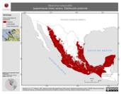 Mapa ilustrativo de Myiarchus tuberculifer (papamoscas triste) verano. Distribución potencial.