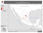 Mapa ilustrativo de Myotis planiceps (Murciélago). Distribución potencial.