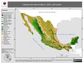 Mapa ilustrativo de Cobertura del suelo de México, 2005, a 250 metros