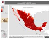 Mapa ilustrativo de Neotoma mexicana (Rata magueyera). Distribución potencial.