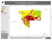 Mapa ilustrativo de Niveles de Severidad del Incendio en el predio El Taray, Arteaga, Coahuila, México