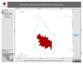 Mapa ilustrativo de Zona núcleo. Reserva de la Biosfera Sierra de Tamaulipas.