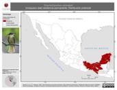 Mapa ilustrativo de Onychorhynchus coronatus (mosquero real) residencia permanente. Distribución potencial.