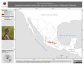 Mapa ilustrativo de Oriturus superciliosus (zacatonero rayado) usando sitios con y sin clima extremo. Distribución Potencial