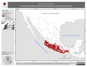 Mapa ilustrativo de Ortalis poliocephala (chachalaca pálida) residencia permanente. Distribución potencial.