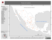 Mapa ilustrativo de Puntos de muestreo