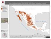 Mapa ilustrativo de Passerculus sandwichensis (gorrión sabanero) usando sitios con y sin clima extremo. Distribución Potencial