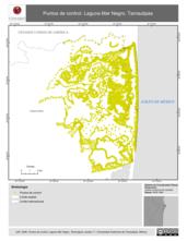Mapa ilustrativo de Puntos de control. Laguna Mar Negro, Tamaulipas.