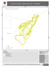 Mapa ilustrativo de Puntos de control. Laguna San Juan, Tamaulipas.