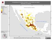 Mapa ilustrativo de Probabilidad de similitud climática con los sitios de colecta tolerantes a la sequía