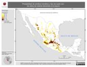 Mapa ilustrativo de Probabilidad de similitud climática y tipo de suelo con los sitios de colecta tolerantes a la sequía