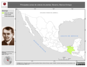 Mapa ilustrativo de Becerra, Marcos Enrique. La proyección citada, es exclusiva para el diseño de esta imagen.