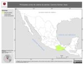 Mapa ilustrativo de Cancino Gómez, Issac. La proyección citada, es exclusiva para el diseño de esta imagen.