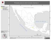 Mapa ilustrativo de Espinosa, A. La proyección citada, es exclusiva para el diseño de esta imagen.