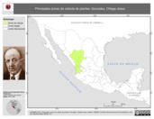 Mapa ilustrativo de Gonzalez, Ortega Jesus. La proyección citada, es exclusiva para el diseño de esta imagen.