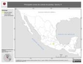 Mapa ilustrativo de García, P. La proyección citada, es exclusiva para el diseño de esta imagen.