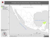 Mapa ilustrativo de Gutiérrez, Rivas, Efraín. La proyección citada, es exclusiva para el diseño de esta imagen.