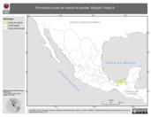 Mapa ilustrativo de Margalli, Felipe A. La proyección citada, es exclusiva para el diseño de esta imagen.