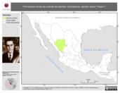 Mapa ilustrativo de Ochoterena, Jacobo Isaac ('Isaac'). La proyección citada, es exclusiva para el diseño de esta imagen.