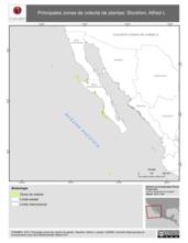 Mapa ilustrativo de Stockton, Alfred L. La proyección citada, es exclusiva para el diseño de esta imagen.