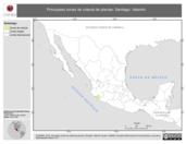 Mapa ilustrativo de Santiago, Valentín. La proyección citada, es exclusiva para el diseño de esta imagen.