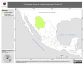 Mapa ilustrativo de Torres, M. La proyección citada, es exclusiva para el diseño de esta imagen.