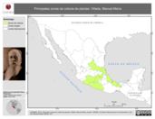 Mapa ilustrativo de Villada, Manuel María. La proyección citada, es exclusiva para el diseño de esta imagen.