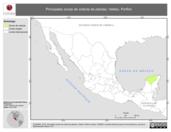 Mapa ilustrativo de Valdez, Porfirio. La proyección citada, es exclusiva para el diseño de esta imagen.