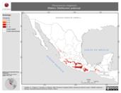 Mapa ilustrativo de Peromyscus megalops (Ratón). Distribución potencial.