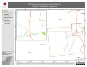 Mapa ilustrativo de Plantaciones forestales del ejido Xkanha, municipio Hopelchén, Campeche