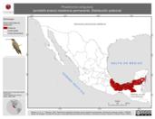 Mapa ilustrativo de Phaethornis striigularis (ermitaño enano) residencia permanente. Distribución potencial.