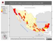 Mapa ilustrativo de Población total e indígena y sus características a nivel municipal, 2002